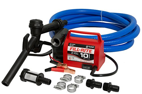 Fill-Rite FR1614 12V 10 GPM Portable Diesel Fuel Transfer Pump, Suction and Discharge Hose, & Manual...