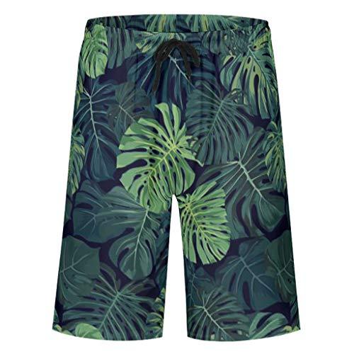 Bannihorse heren zwembroek vrijetijdsbroek zomer casual mode sneldrogend zwemshorts zwempak zwemshorts met verstelbare trekkoord zakken zonder mesh voering
