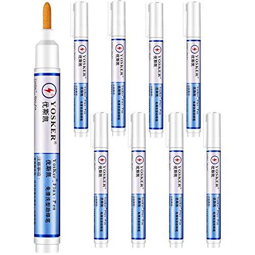 8 Pieces Soldering Flux Pen No Clean Rosin Flux Pen for Welding Repair Electronics Tabbing Wire Soldering