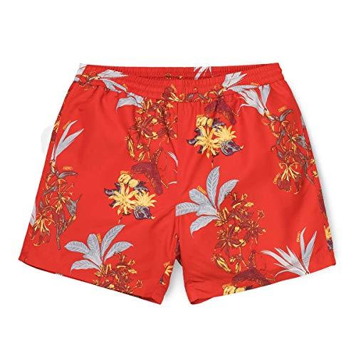 Carhartt Drift Swim Trunk I015812 Hawaiian Floral Print Red rojo S
