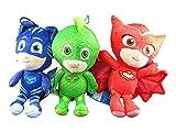 PJ Masks Catboy Owlette Gekko Plush Doll Stuffed Animal Toy Gift Set Kids 8