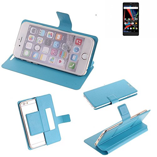 K-S-Trade® Flipcover Für Archos 55 Diamond Selfie Lite Schutz Hülle Schutzhülle Flip Cover Handy Case Smartphone Handyhülle Blau