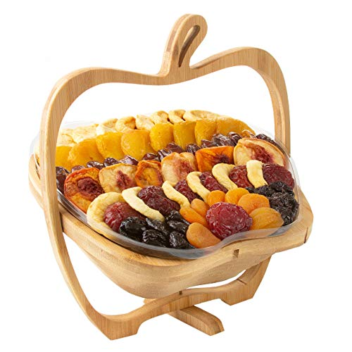 Oh! Nuts Dried Fruit Gift Basket   Healthy No Sugar Added Huge Assortment of Dried Fruit Gourmet Holiday Gift   Food Snack Set Ideas for Rosh Hashanah, Christmas, Thanksgiving, Sympathy, Birthday Gift