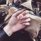 Uñas Falsas 24 Unid/Set Nueva Prensa En Las Puntas De Las Uñas Rojo Sexy Mate Cubierta Completa Stiletto Uñas Postizas Color Negro Claro Uñas Postiz