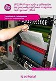 Preparación y calibración del grupo de presión en máquinas de impresión offset. ARGI0109 - Impresión en ofsset