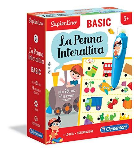 Clementoni - 16166 - Sapientino - La Penna Interattiva Basic - gioco educativo bambini 3 anni, elettronico parlante (versione in italiano) - Made in Italy