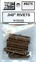 Tichy Train Group All Scale HO/O .040'' Rivets 96 Pcs Plastic Detail Set #8075