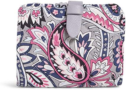 Vera Bradley Signature Cotton Small Wallet with RFID Protection Gramercy Paisley product image