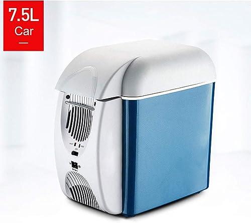 WERT Glacière électrique Portable pour Voiture Bureau Et Camping 12V 230V Double Usage Mini Réfrigérateur Très Silencieux Isotherme Chaud Froid, A1(7.5L)