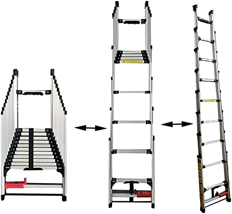 XSJZ Escaleras Telescópicas, Aleación de Aluminio Ligera ...