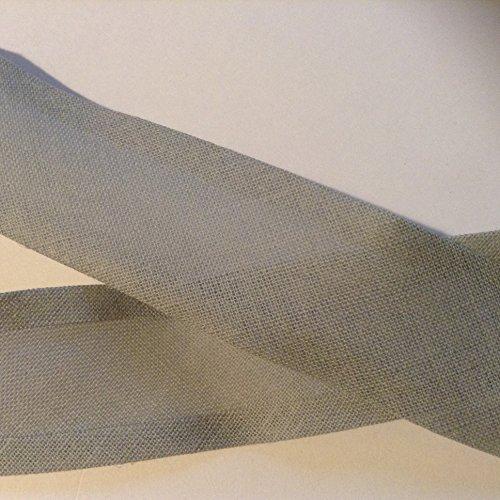 Biais uni gris foncé 2 m x 25 mm