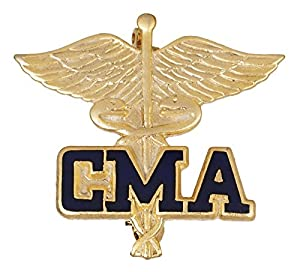Certified Medical Assistant Pin. Beautiful hand crafted cloisonne jewelry. Each pin is individually handmade using old world craftsmanship. Painstaking attention to detail and fine gold plating enhance each pin and provide a distinguished appearance....
