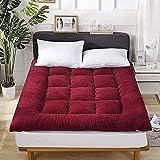 JJDSN Colchón de Suelo japonés, colchón de Suelo de futón Suave y Transpirable de tamaño Completo, futón Tradicional...