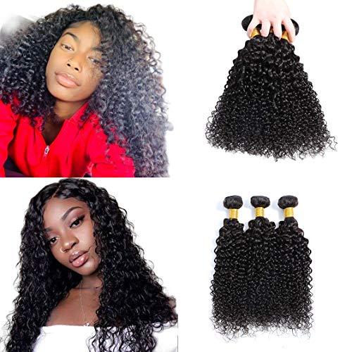 "Selina, 3 Bundles,12""12""12"" Kinky Curly, Brazilian Curly Hair Bundles, Unprocessed Remy Hair Extensions, Brazilian Virgin Human Hair, 100 Gram/Bundle (12""12""12"", Natural Color)"
