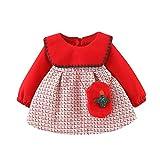 YAAY Vestidos de princesa con cremallera para otoño e invierno con cuello Peter Pan y cremallera para bebés de 12 a 4T