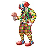 Beistle Jointed Zombie Clown, 5-Feet 6-Inch