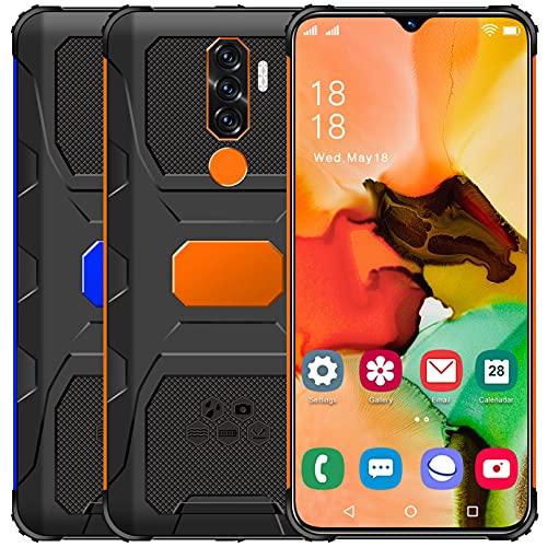 Teléfono móvil Gratuito, N1 Android 11 5G Smartphone Gratuito, 4GB RAM 64GB ROM (128GB SD) Smartphone, 7.0 Pulgadas con Pantalla de Gota de Agua, 50MP + 32MP, Dual SIM, Face ID, GPS