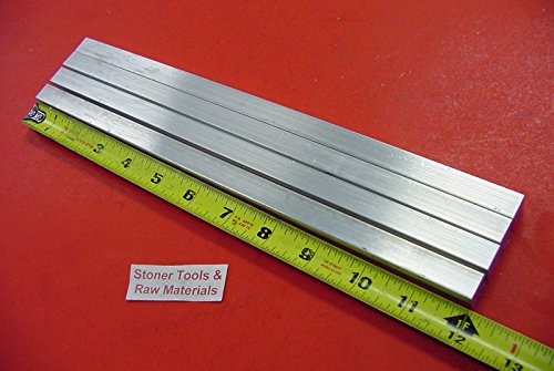 4 Pieces 1/2' X 1/2' Aluminum Square Solid BAR 12' Long +.07'/-0 6061 T6511 New Extruded Mill Stock
