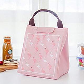 divinz Women's Flamingo Portable Food and Milk Warmer Oxford Bag (Multicolour)
