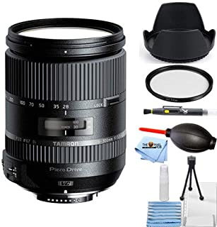 amron 28-300mm f/3.5-6.3 Di VC PZD Lens for Canon Starter Bundle with Tulip Hood Lens, UV Filter, Cleaning Pen, Blower, Mi...