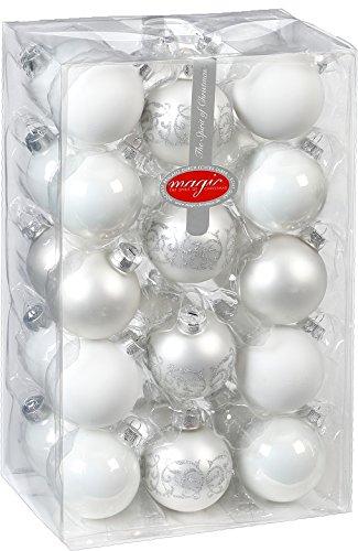 Hemore Accessoire de No/ël Arbre de No/ël Mini Christmas Tree 25cm Blanc Sticky 1 PC