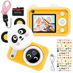 Clearer Moment Recorded: Multi-scene selections, equipped with auto Focus,16MP and 1080P HD Video, improved the definition of photos greatly. With lovely cartoon sticker shooting, your children can take photos with frames or take selfies, share some ...
