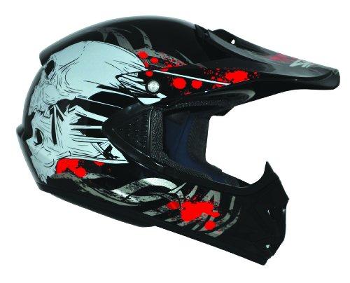 Kids Pro Kinder Crosshelm Schwarz Größe: XS 53-54cm Kinderhelm Kinder Cross BMX MX Enduro Helm - 3