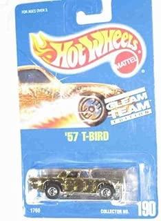 #190 '57 T-Bird Thunderbird Gleam Team Basic Wheels Gold Collectible Collector Car Mattel Hot Wheels
