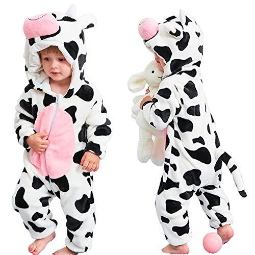 qiaoniuniu Halloween Baby Cow Costumes Toddler Onesie Pajamas Infants Cosplay Romper, 90??ê12-18months??ë