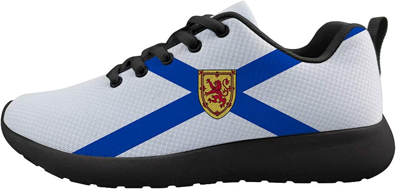 Oaheson Cushioneng Sneeaker Trail Trail Trail springaning skor herr kvinnor Nova Scotia Flag  blixtnedslag