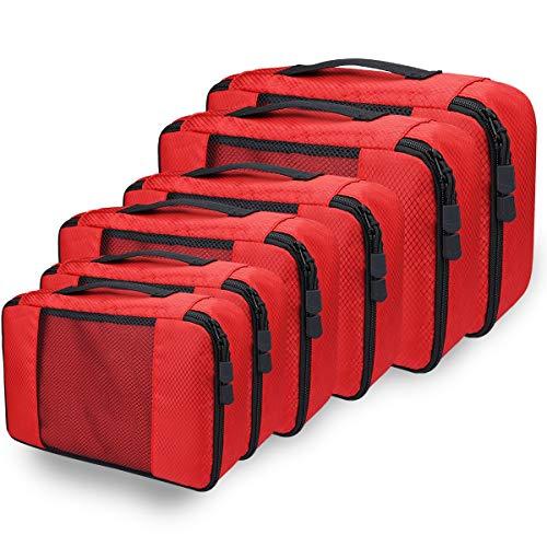 Kleidertaschen Kofferorganizer Set, Netspower Packing Cubes Packwürfel Aufbewahrungstasche...