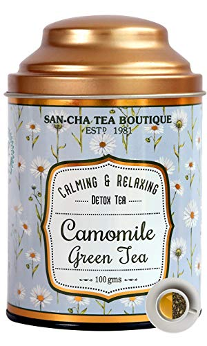 Sancha Tea Boutique Chamomile Green Tea, All Natural,...