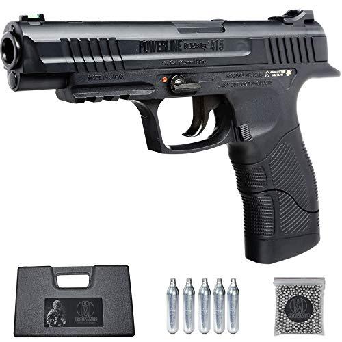 Ecommur. 415 Daisy | Pistola de perdigones (Bolas BB's de Acero) de Aire comprimido semiautomática 4,5mm + maletín + balines y CO2