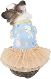 FLAdorepet Cute Bunny Rabbit Dress Clothes for Mini Dog Small Animal Chinchilla Easter Costume Outfits