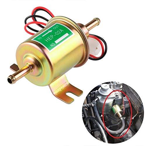 HEP-02A Universele brandstofpomp voor auto's, dieselbrandstof, inline pomp met lage druk, elektrische pomp met 12 V, elektronische brandstofpomp voor dieselbrandstof goud.
