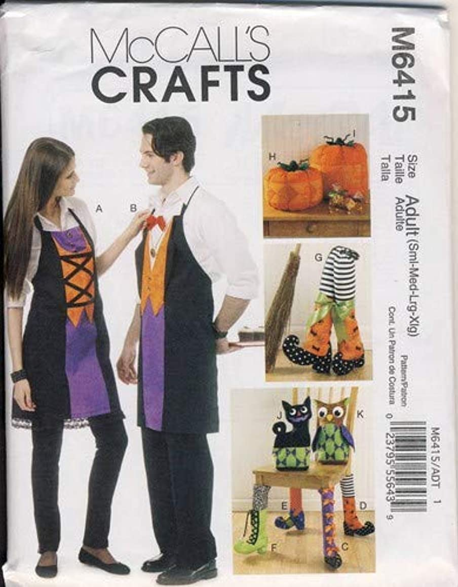 McCall's Patterns M6415 Aprons, Chair Decorations, Boots, Pumpkins, Cat and Owl