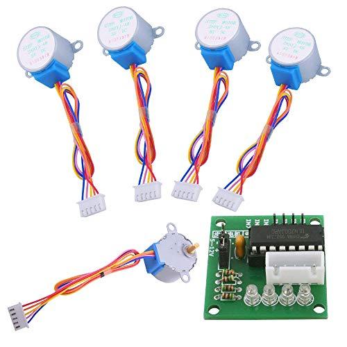 5 juegos 28BYJ-48 ULN2003 5V Motor paso a paso + ULN2003 Driver Board para Arduino