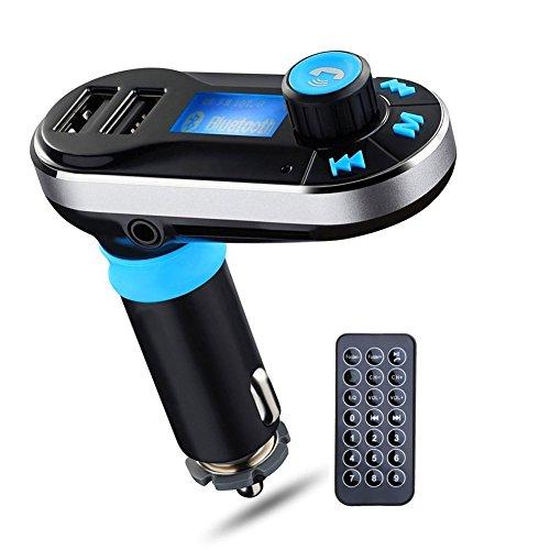 SmartEra® appel mains libres Port de charge sans fil Bluetooth Kit support voiture Carte SD Convient pour l'iPhone 6 Ipod Samsung Galaxy et autre téléphone cellulaire intelligent(argent)