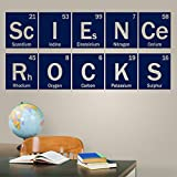 Diuangfoong Science Rocks Periodic Vinyl Decal Science Wall Decal Classroom Teacher Decor Chemistry Dorm Decal Table of Elements
