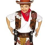 NET TOYS Fondina con Due Pistole Cintura per rivoltelle Bambini - Porta Pistole Revolver Cinturone da Sceriffo Colt Rivoltelle Giocattolo da Cowboy Accessorio Costume Western