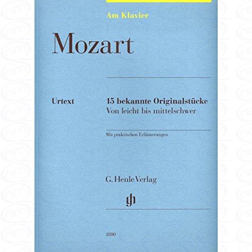 15 bekende originele stukken - gearrangeerd voor piano [noten/Sheetmusic] Componist : MOZART WOLFGANG AMADEUS uit de serie: Aan piano