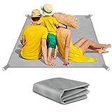 HICOO Alfombras de Playa, Manta Picnic Portátil Plegable Estera de Playa Sin Arena para al Aire Libre, Viajes,Camping, Senderismo, Picnic