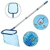 Tencoz Recogehojas para Piscinas, Pool Net Leaf Skimmer, Red para Piscinas con Poste de Aluminio de 1,2 m Recogehojas Piscina, Limpia Piscinas Red (1)
