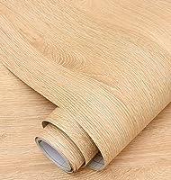 木目調壁紙壁紙自己粘着デスクトップキャビネットドアステッカー模造木材古い家具改修ステッカー装飾ボーイングフィルム-イエローオーク_60cm * 5m
