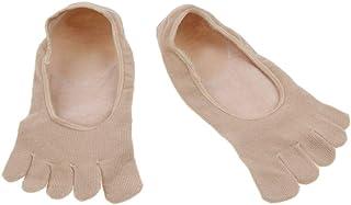 Baoblaze 1ペア ボートソックス つま先ソックス 保湿 靴下