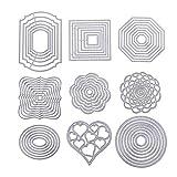 BENECREAT 9 Ensembles de Matrices de Coupe Pochoir en métal modèle de gabarit Outil de gaufrage pour Bricolage Scrapbooking Album Photo Papier Artisanat Making