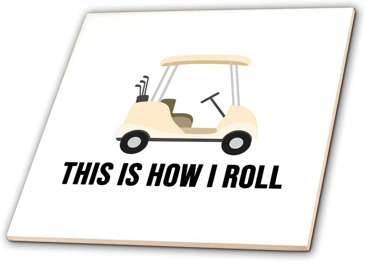 3dRose Stamp City Large-scale sale - NEW typography This is golf how with I ca roll