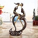 LJYY Escultura de Pareja, Estatua de Arte Moderno, Estatua de Amor, Escultura de decoración de Sala de Estar, Adecuada para Sala de Estar, Oficina, cafetería, Club