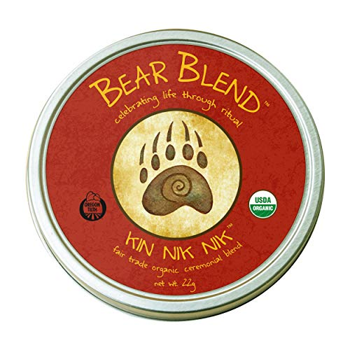 Bear Blend Organics Ceremonial Herbal Smoking Blend – Handcrafted Nicotine-Free Tobacco Alternative Used With Herbal Cigarettes, Pipes, and Tea (Kin Nik Nik)