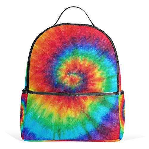 CPYang Schulrucksack, abstrakt, bunt, mit Wirbelmuster, für College, Schulter, Freizeit-Rucksack für Mädchen, Jungen, Damen, Herren